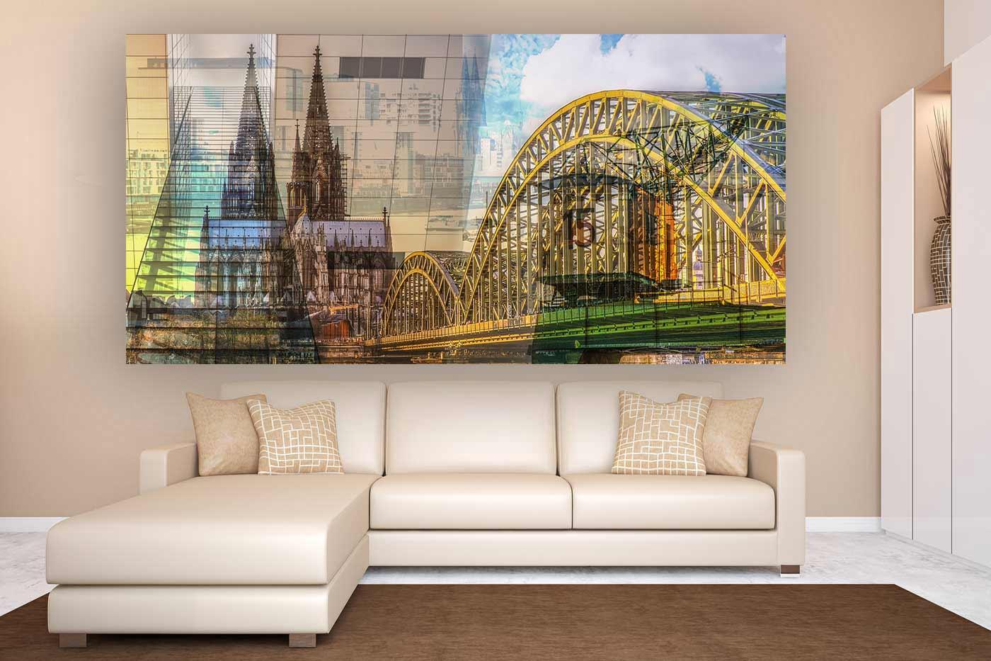 leinwandbilder k ln tolle panorama und skyline motive. Black Bedroom Furniture Sets. Home Design Ideas
