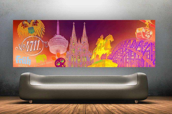 Pop-Art Kunst Panorama Collage Köln | Fotokunst und Kunst Motiv Köln
