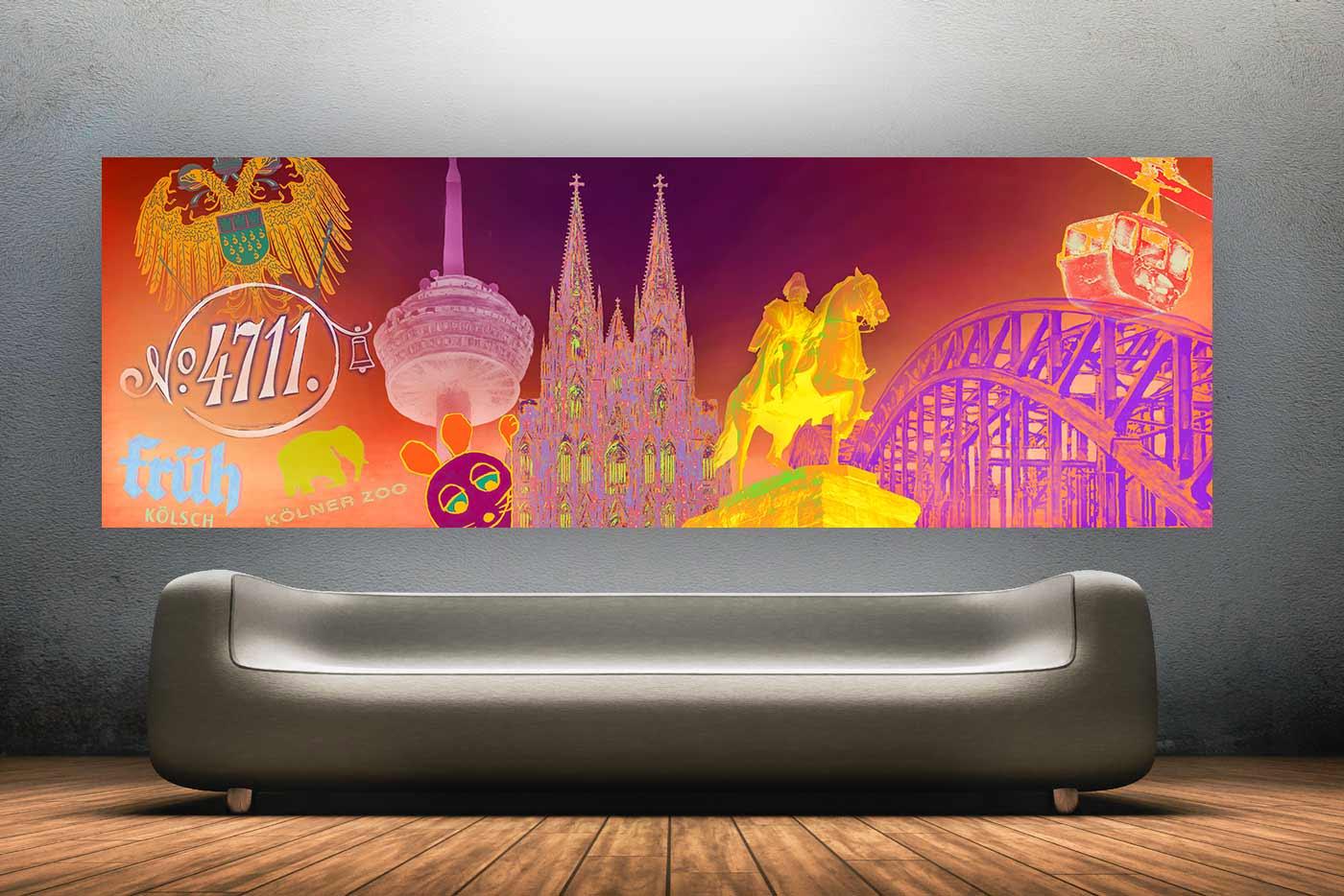 Köln Bilder für Stadtverliebte | Pop-Art DOM Kunst Motive