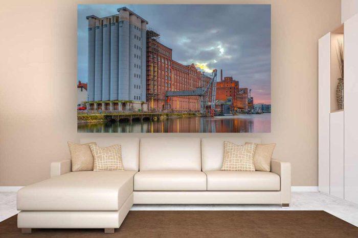 Foto Kunst Panorama Werk Innenhafen Duisburg | Foto Art Duisburg Skyline