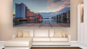 Duisburg Innenhafen Panorama Bild | Stadt Fotokunst im XL Design
