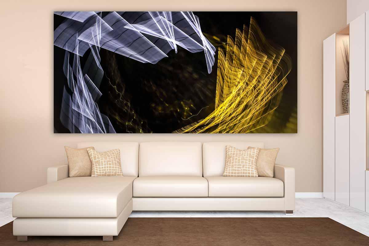 Abstrakte acrylbilder und moderne wandbilder im panorama design - Abstrakte wandbilder ...