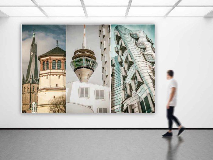 Acryl Panoramabilder aus Düsseldorf. Kunst Bilder, Motive und Ansichten