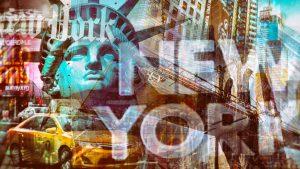 Acrylbild New York City - Kunstbilder aus der Stadt am Hudson River