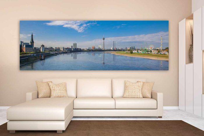 Acrylbilder Panorama Wandbilder und Kunst aus Düsseldorf am Rhein