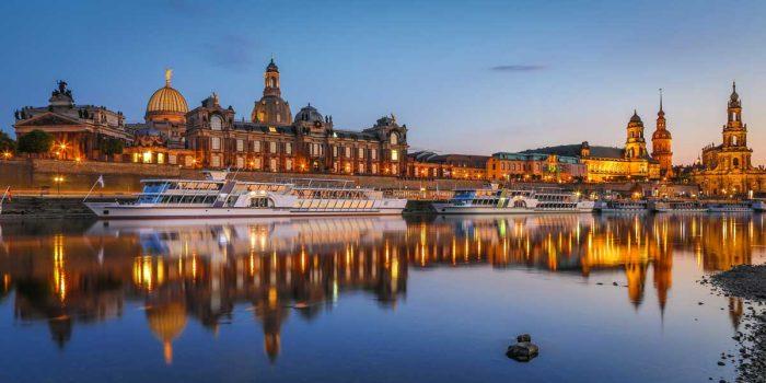 Acrylbilder Dresden Panorama Kunst Bilder und Pop-Art Ansichten von der Elbe.