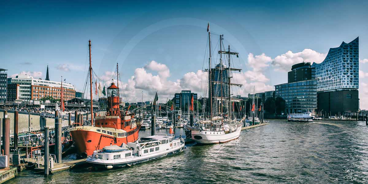 Acrylbilder Hamburg elbphilharmonie hamburg an der elbe panorama kunst bilder