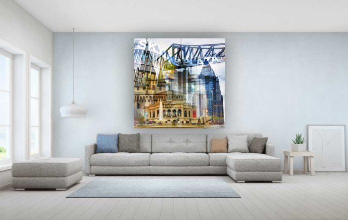 Acrylbilder Frankfurt am Main. Kunstbilder fürs Büro und zu Hause.