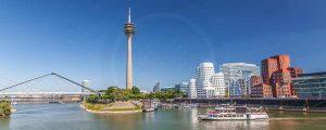 Acrylbilder Medienhafen Düsseldorf im modernen XL Panorama Format