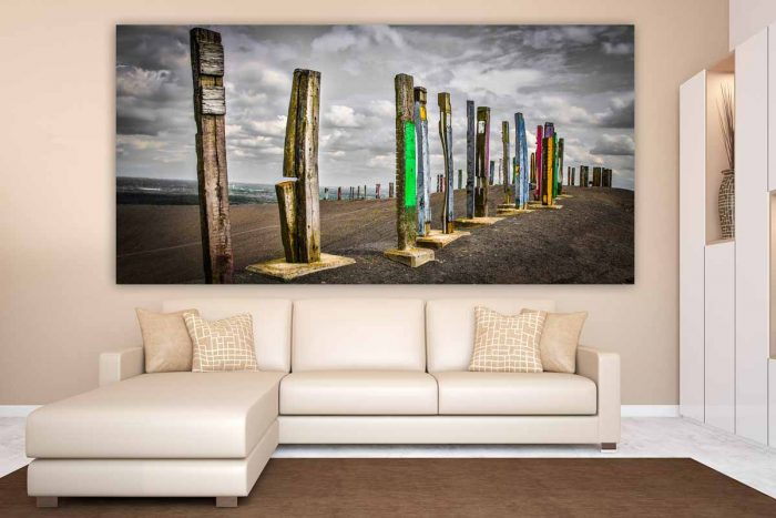 Acrylbilder Ruhrgebiet als Pop-Art Panorama Bild. Industriekultur Kunst