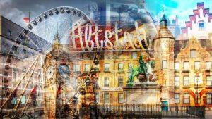 Altstadt Düsseldorf Kunst Collage | Stadtliebe & Tradition
