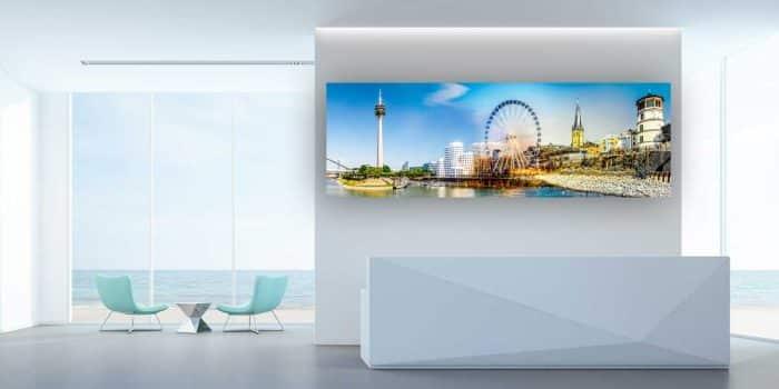 Alu Art Medienhafen Düsseldorf Bilder und Kunst Motive auf Leinwand.