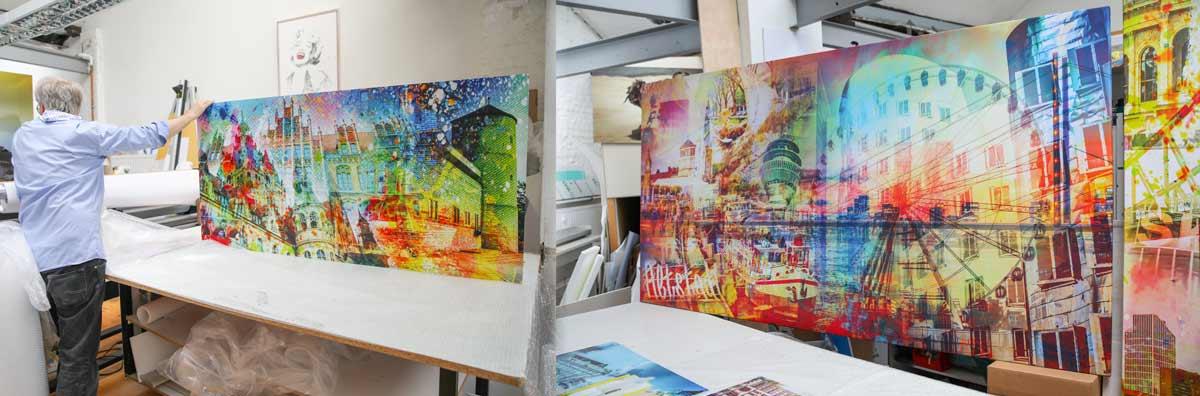 AluArt Kunstbilder Pop Art Altstadt