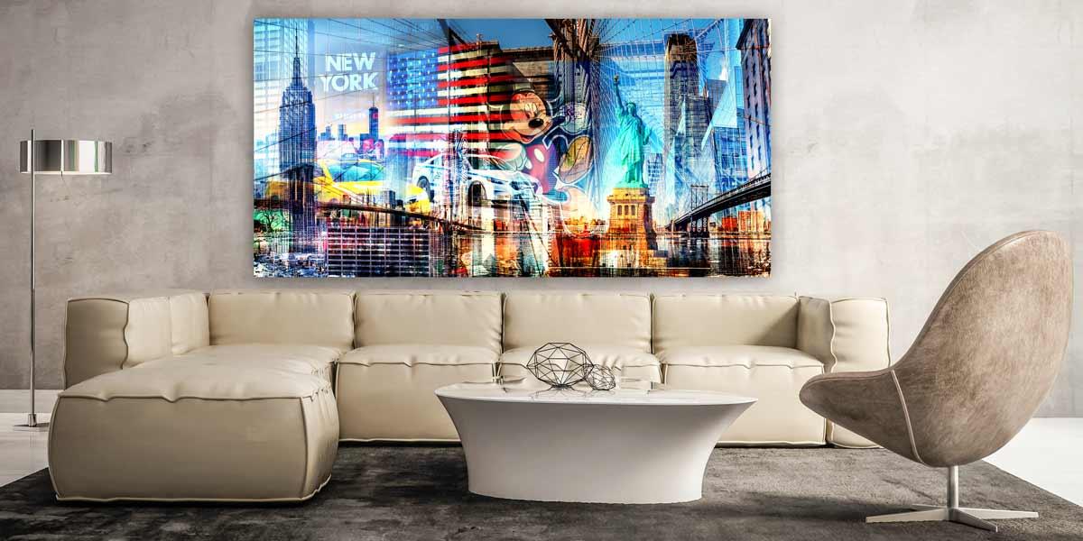Beispiel Kunstbild Panorama-New-York