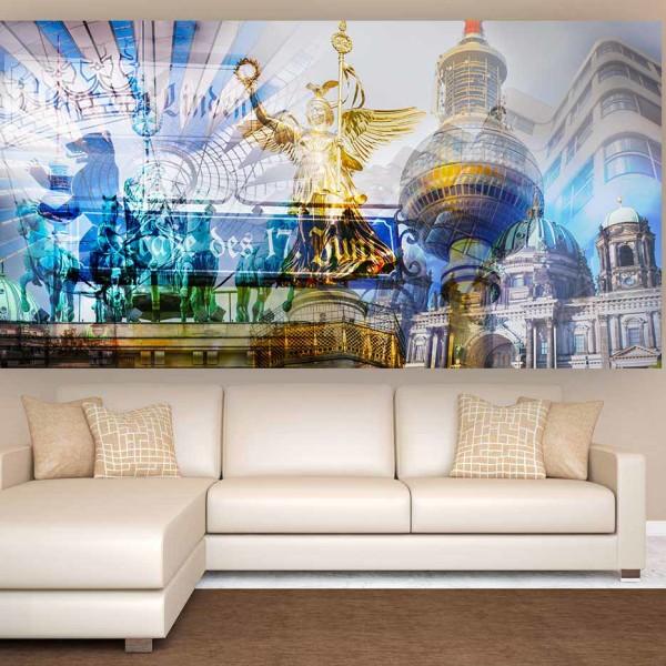 Berlin Collage Pop-Art Style. Panorama Bilder auf Alu und Acryl. Artwork