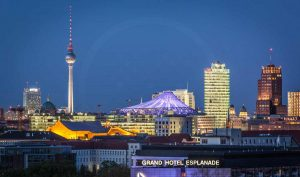 Berlin Panorama Fernsehturm | Kunst Bild aus der Landeshauptstadt
