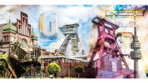 Bild Ruhrgebiet Panorama Collage | Pott meets Pop-Art
