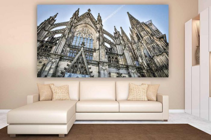 Bilder Kölner Dom im Kunst Panorama Format auf Acryl und Aluminium