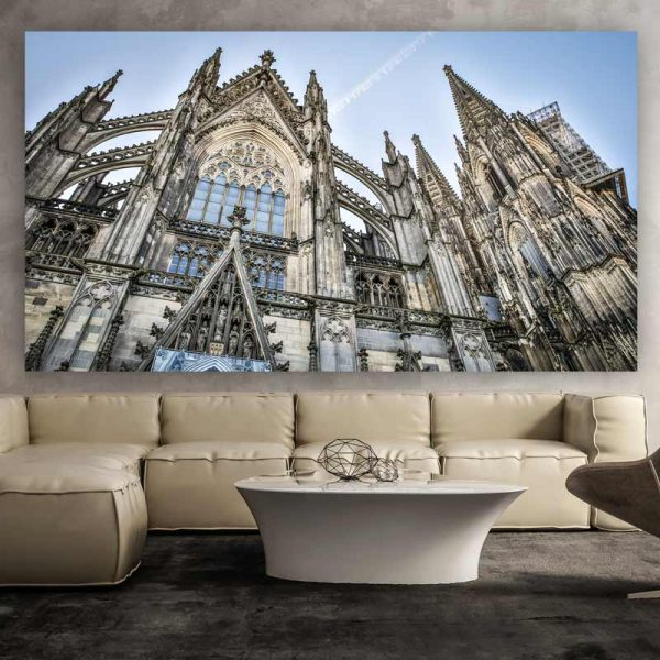 bilder k lner dom im kunst panorama format auf acryl und aluminium. Black Bedroom Furniture Sets. Home Design Ideas