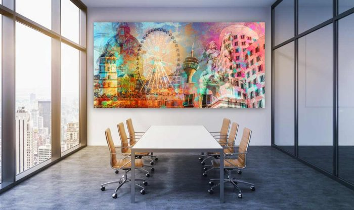 Bilder fürs Büro. Moderne Panorama Bürokunst aus Düsseldorf, Köln und Hamburg