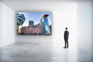 Bürokunst Schallschutz Kunstbilder und moderne Panorama Collagen