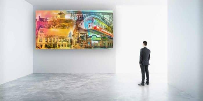 Collage Bergisches Land. Motive aus Wuppertal und Solingen als Pop-Art
