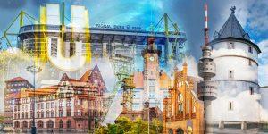 Collage Dortmund - Zechen und Industriekultur aus der Stadt
