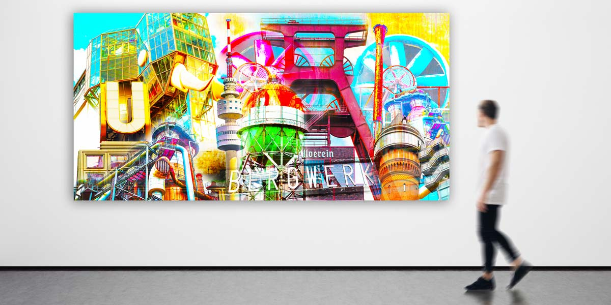 Collage Pop-Art Panorama Ruhrgebiet