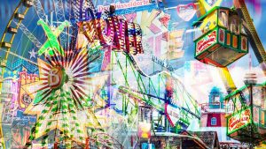 Collage Rheinkirmes als moderne Pop-Art Panorama Collage für DICH