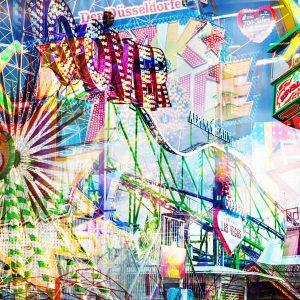 Collage Rheinkirmes als moderne Pop-Art Panorama Collage für DICH