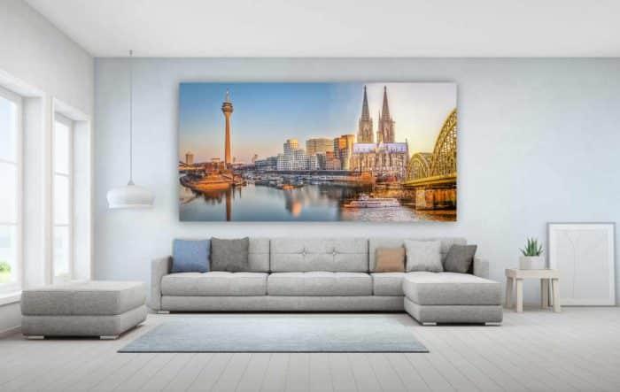 Collage Rheinland mit Rhein, Düsseldorf und Köln Motiven