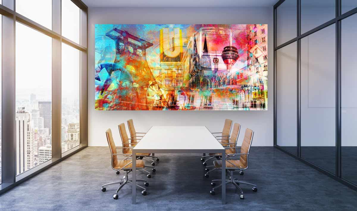 Collage Rheinland Und Nrw Moderne Art Kunstmotive Aus Deiner Stadt