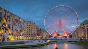 Düsseldorf Acrylbilder | Panorama Riesenrad auf der Königsallee
