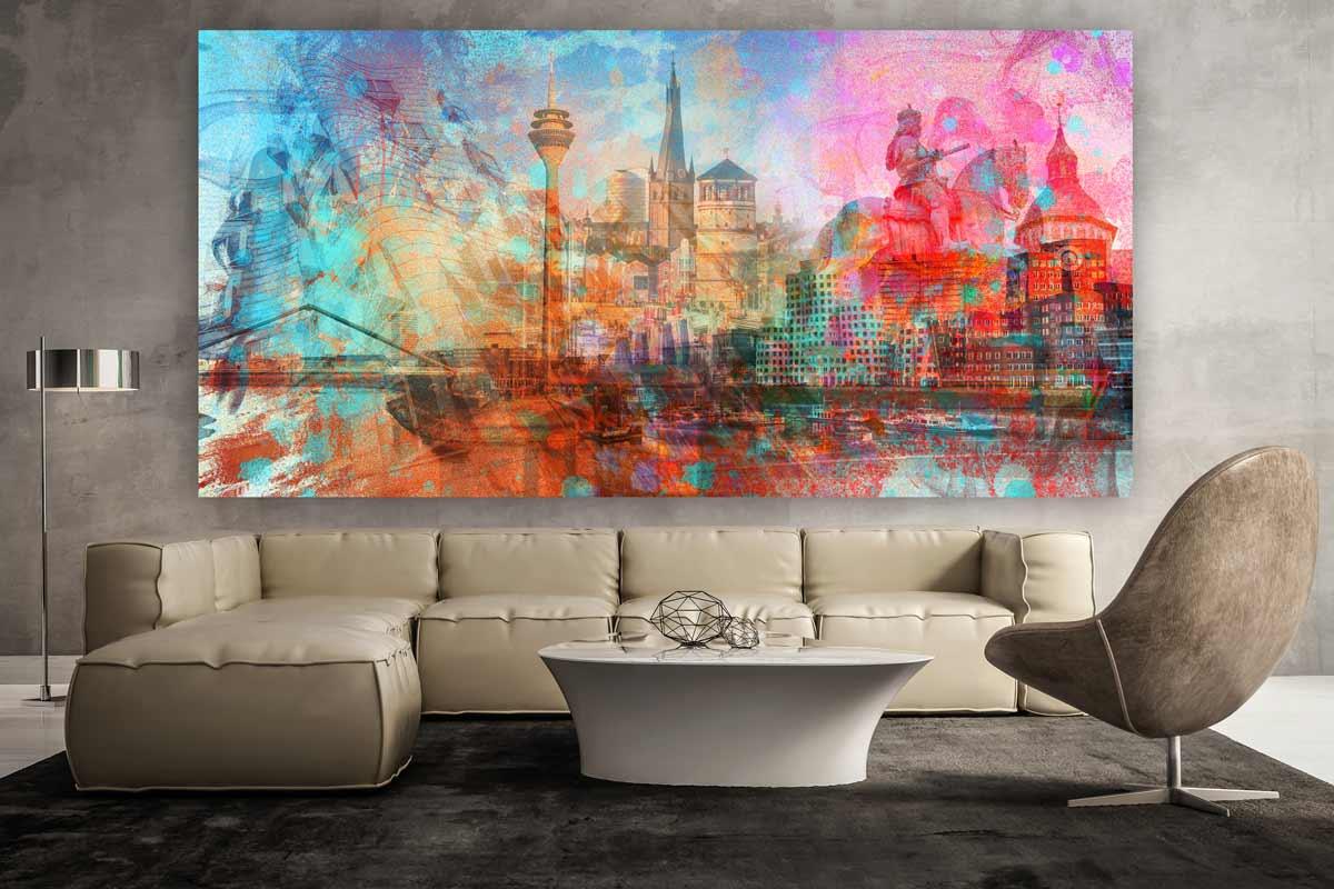 d sseldorf kunstdrucke als moderne wandbilder auf leinwand und acryl. Black Bedroom Furniture Sets. Home Design Ideas
