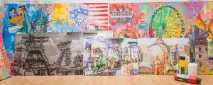 Kunst Bilder und moderne Wandbilder und Leinwandbilder im Pop-Art Style