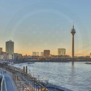 Düsseldorf Stadtbilder - Bilder aus dem Rheinland auf Acryl und Leinwand