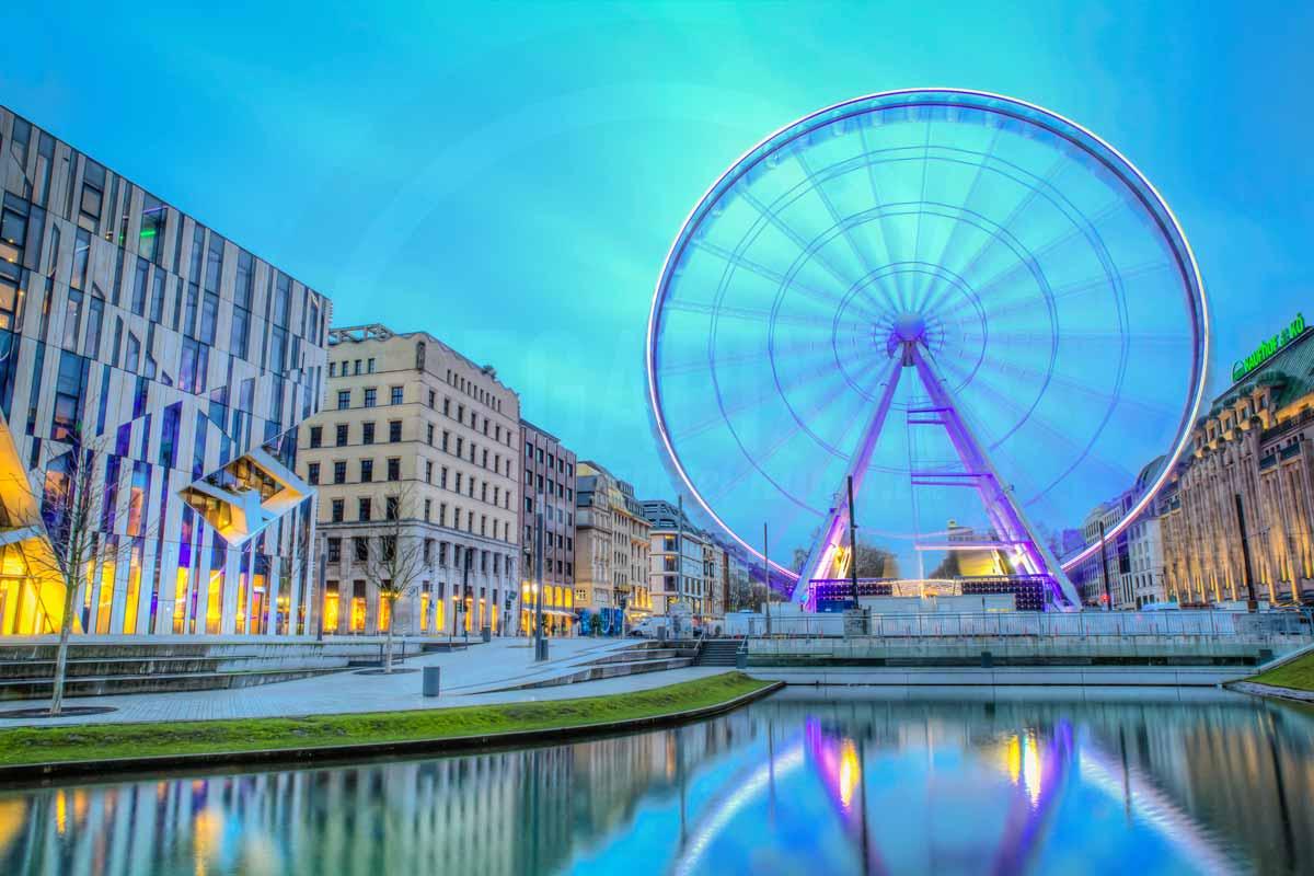 Düsseldorf Acrylbilder | Stadt Highlight auf der Königsallee