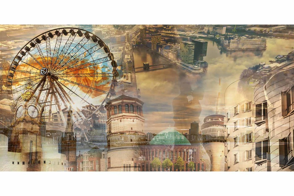 Düsseldorf Heimatliebe | Moderne Kunst Pop-Art Collage