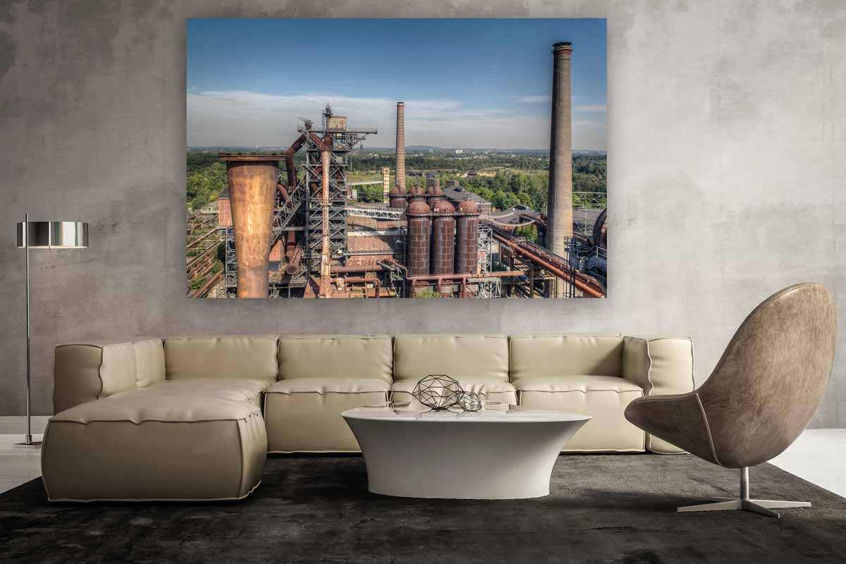 panorama foto art bild des landschaftspark in duisburg industriekultur fotografie. Black Bedroom Furniture Sets. Home Design Ideas