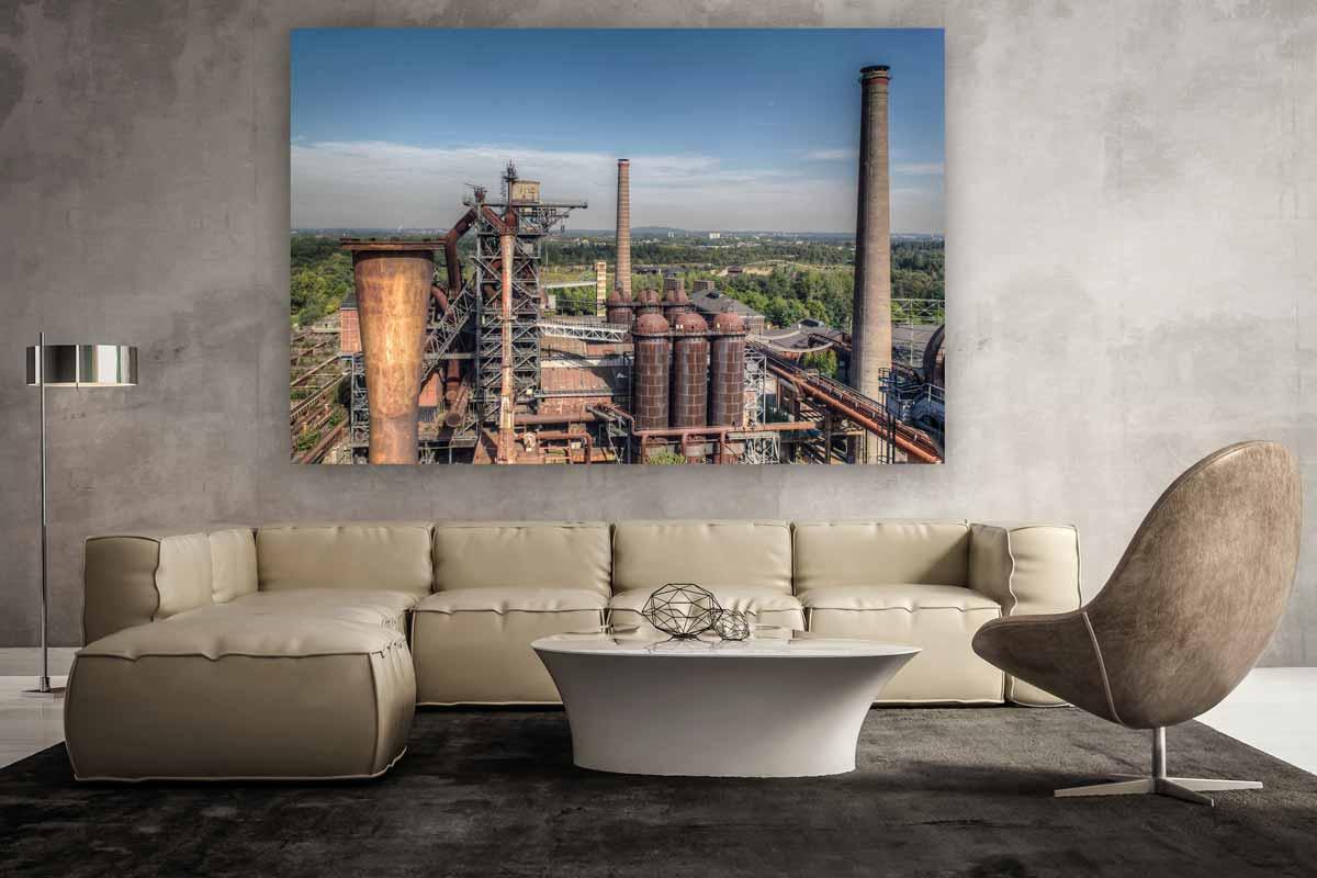 panorama foto art bild des landschaftspark in duisburg industriekultur fotografie. Black Bedroom Furniture Sets. Home Design Ideas