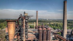 Panorama Foto Art Bild des Landschaftspark in Duisburg | Industriekultur Fotografie Landschaftspark Duisburg