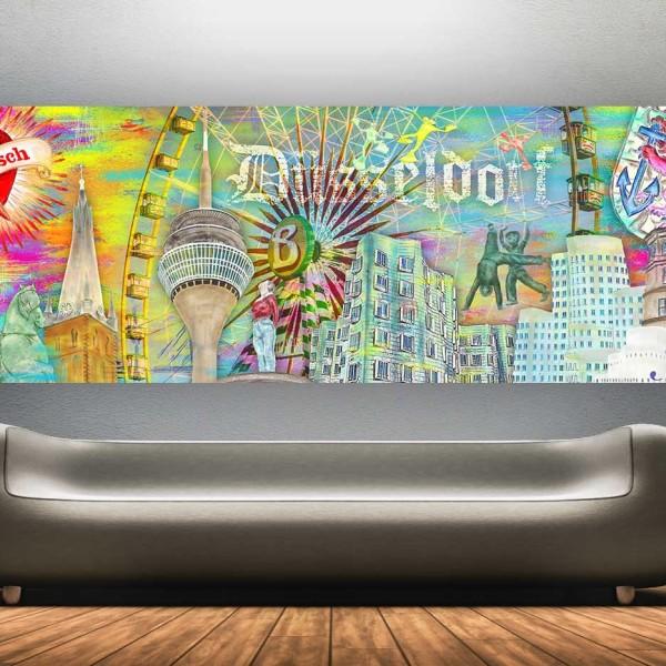 Kate Moss Wandbild   Collage aus Alltagsgegenständen