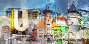 Dortmund Collage aus dem Ruhrgebiet - Moderne Kunst Bilder