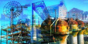Duisburg Collage und Kunst Bilder aus dem Ruhrgebiet. Panorama Art