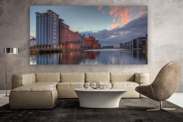 Duisburger Innenhafen Panorama Motiv | Moderne Foto Art aus Duisburg