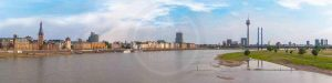 Foto Panorama Stadt Düsseldorf am Rhein - Moderne Leinwandkunst