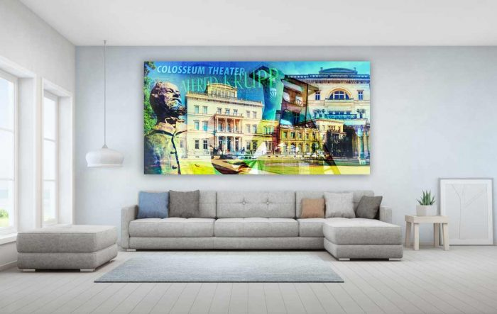 Fotokunst Essen Stadt Collage. Moderne Wandbilder und Bürokust Motive