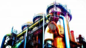Fotokunst Ruhrgebiet Collage | Modernes Industrial Art Kunst Bild