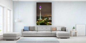 Fototapete Düsseldorf mit Kunst Motiv. Moderne Bürobilder und Wand Art.