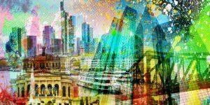 Frankfurt Acrylbilder und moderne Pop- Art Bilder und Motive vom Main.